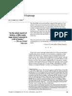 Psychology of Espionage