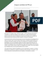 09/Febrero/2018 Ya es Eduardo Almaguer candidato del PRI por Guadalajara