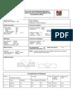 FACULTAD DE INGENIERÍA MECÁNICA ESPECIFICACIÓN DE PROCEDIMIENTO DE SOLDADURA (WPS).pdf