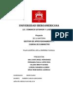 Plan Logistico de La Empresa Vianala