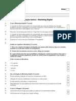 Avaliação Marketing Digital