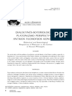 Uzdavinys, A. (2009) Dialectical and Soteriological Perspectives of Platonism in the Context of Ancient Philosophy (in Lithuanian)