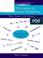Essence of Multivariate Thinking - Basic Themes and Methods