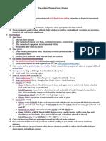 Precautions Notes