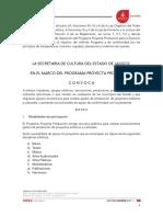 Convocatoria Proyecta Produccion 2018