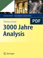 3000 Jahre Analysis [Geschichte, Kulturen, Menschen], 2011