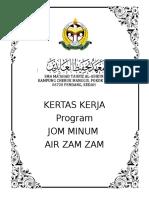 Kertas Kerja Air Zam Zam 2018