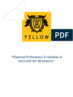 Financial Analysis of Yellow Fashion House