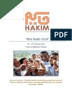 Misi Bakti 2018 Proposal