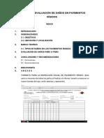 Informe de Evaluación de Daños en Pavimentos Rígidos