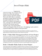 10 Golden Rules of Project Risk Management