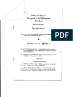 RA 10747 - Rare Disease Act