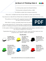 6 Thinking Hats Hand Out