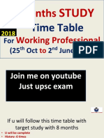 Time Table for Working Aspirants