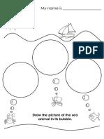 Sea Animals Bubbles Draw