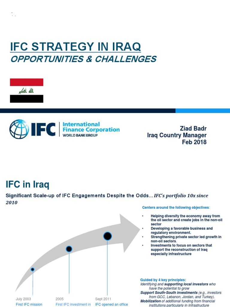 Ifc Strategy In Iraq: Opportunities & Challenges
