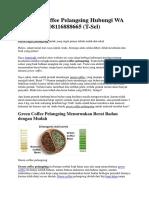 Green Coffee Pelangsing Hubungi WA 08116888665