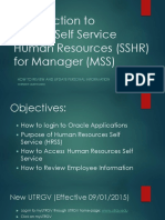 Oracle Manager Self Service