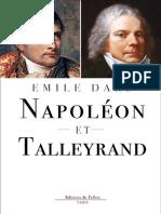 Napoleon Et Talleyrand - Dard, Emile