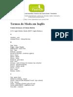 Dicionário de Termos de Moda Em Inglês
