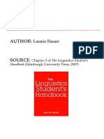 Chapter 3 of The Linguistics Student's Handbook  Laurie Bauer