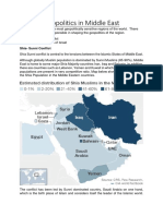 Geopolitics in Middle East