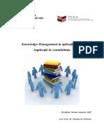 212860107 Knowledge Management in Aplicaţii ERP Implicaţii in Contabilitate