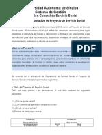 2. Guía Para Elaboración de Proyecto de Servicio Social