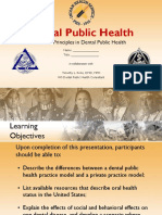 Principles in Dental Public Health - Part I - PowerPoint Presentation