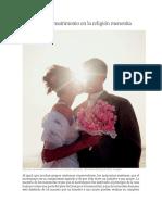 Creencias Del Matrimonio en La Religión Menonita