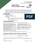 Comunicat i autorització pedalada smss 2010