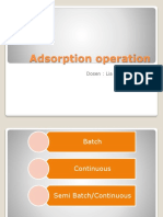 Adsorption Operation