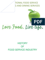History of Food Service Indusrty