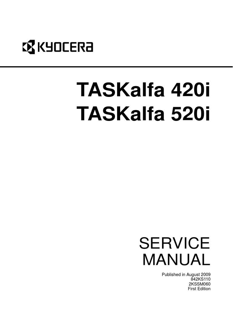 Kyocera Mita Taskalfa 420i Taskalfa 520i Service Manual
