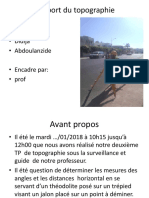 Rapport Du Topographie