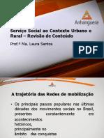Revisao de Conteudo Serviço Social Contexto Urbano Aula 9 Slide 1