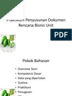 Praktikum Penyusunan Dokumen Rencana Bisnis Unit-1