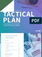Linkedin Tactical Plan 2018