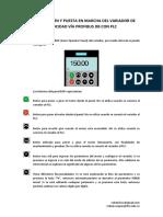 Configuración y Puesta en Marcha Del Variador de Velocidad Vía Profibus DP Con PLC