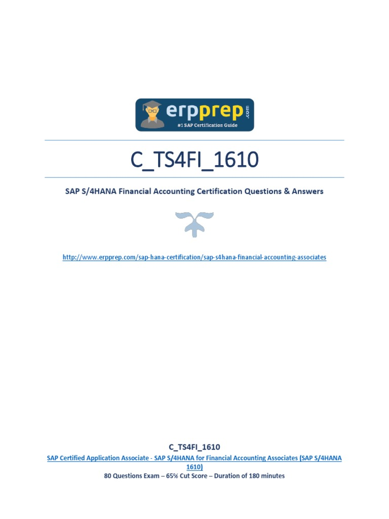 C TS4FI 1610 PDF Questions and Answers | Payments | Test (Assessment)