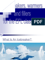 warmers, ice breakers  s for the efl classroom.ppt
