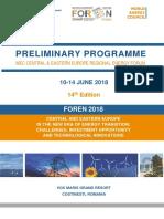 Preliminary Programme FOREN2018