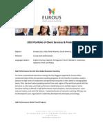 Eurous Portfolio of Client Services 3