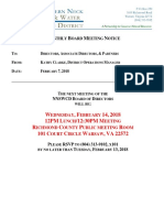 NNWSD February 2018 Board Meeting Notice Agenda