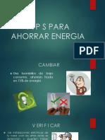t i p s Para Ahorrar Energia