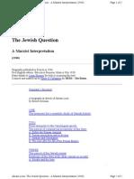 The Jewish Question - A Marxist Interpretation (1946)- Abram Leon