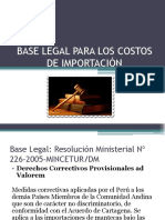 Base Legal Para Los Costos de Importación
