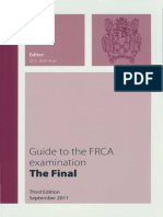 Guide to the Final FRCA 2011