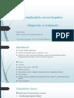 Complicațiile cirozei hepatice
