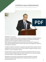 10/02/2018 Buscan Agentes Inmobiliarios Mayor Profesionalización